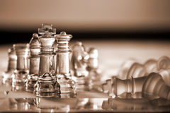 Chess pieces - business concept series: compete, s Royalty Free Stock Photography