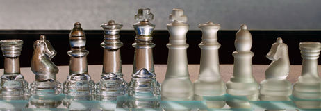Chess Pieces - business concept series: strategy,  Royalty Free Stock Images