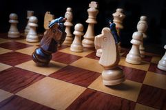 Chess Pieces Businessmen Metaphor royalty free stock images