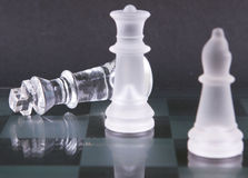 Chess pieces checkmate Royalty Free Stock Photo
