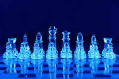 Chess pieces on chess board Royalty Free Stock Photos