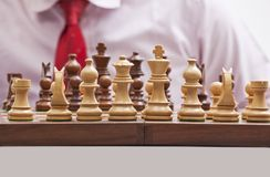 Chess pieces on a chess board Royalty Free Stock Photography