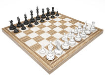 Chess pieces on a chess board Royalty Free Stock Image