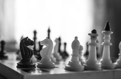 Chess pieces. chess tournament Royalty Free Stock Photography