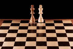 Chess pieces on a chessboard Royalty Free Stock Images