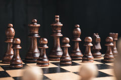 Chess pieces on chessboard Royalty Free Stock Photography