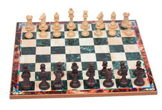 Chess pieces on chessboard Stock Image