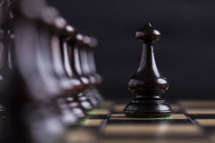 Chess pieces on a chessboard. Stock Photography