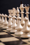 Chess pieces on a chessboard. Royalty Free Stock Photos
