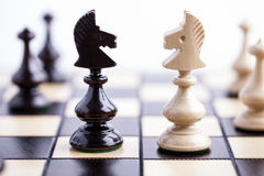 Chess pieces on a chessboard. Royalty Free Stock Photo
