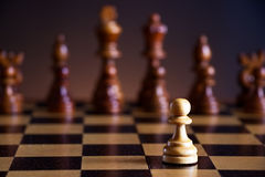 Chess pieces on a chessboard royalty free stock photos