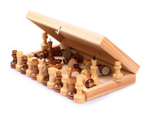 Chess pieces and chessboard Stock Photography