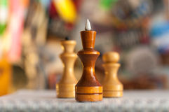 Chess pieces on a colored background Royalty Free Stock Image