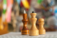 Chess pieces on a colored background Stock Photo