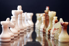 Chess Pieces Confrontation Royalty Free Stock Images