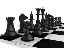 Chess pieces - 3D render. 3D render Chess pieces on white Stock Images
