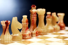 Chess Pieces On Dark Stock Images