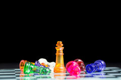 Chess pieces and game board Stock Photos