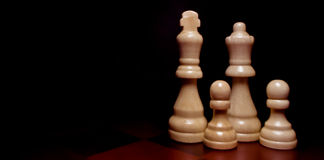 Chess pieces. A chess game making a family Stock Photography