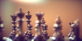 Chess Pieces Gameboard. Pieces of chess game, image with shallow depth of field. Concept image Royalty Free Stock Photo