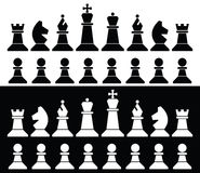 Chess pieces icons, vector. Set of chess pieces icons, vector Royalty Free Stock Photography