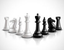 Chess Pieces Illustration Royalty Free Stock Photography