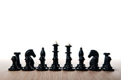 Chess pieces isolated Royalty Free Stock Photo