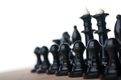 Chess pieces isolated Royalty Free Stock Image