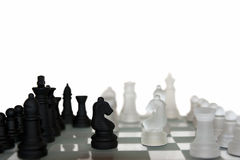 Chess pieces isolated Royalty Free Stock Images