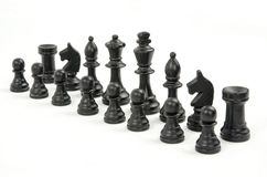 Chess pieces isolated on white Royalty Free Stock Images