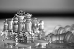 Chess Pieces, King - business concept series. Royalty Free Stock Photography