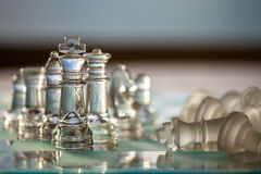 Chess Pieces, King - business concept series. Royalty Free Stock Images