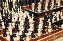 Chess pieces in market Royalty Free Stock Photography