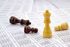 Chess pieces and numbers Stock Photo
