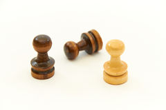 Chess Pieces, Pawns. Chess pieces on white background Stock Photos