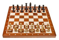 Chess pieces placed on board Stock Image