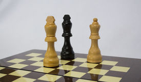 Chess. The chess pieces are placed on the chessboard. Checkmate Stock Photography