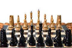 The chess pieces are placed on the chessboard. Royalty Free Stock Photography