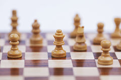 Chess pieces, placed in position Royalty Free Stock Photos
