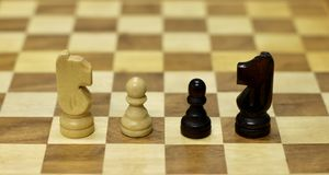the chess pieces stock photo