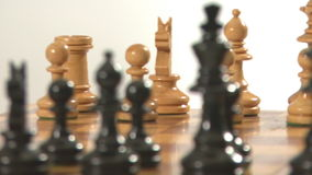 Chess pieces rotating stock video footage