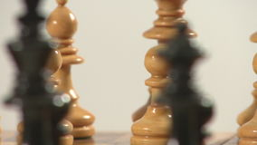 Chess pieces rotating stock footage