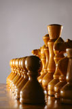 Chess pieces in row Royalty Free Stock Photography