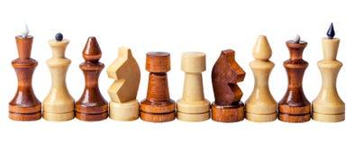 Chess pieces in a row Stock Photos