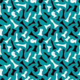 Chess pieces seamless pattern design Stock Photography