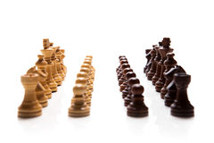 Chess pieces set. On white background Stock Photos