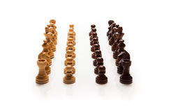 Chess pieces set. On white background Royalty Free Stock Photography