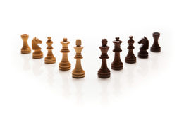 Chess pieces set. On white background Stock Images