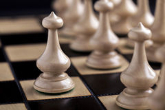 Chess pieces showing competition Royalty Free Stock Photos