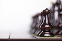 Chess pieces showing competition Stock Images